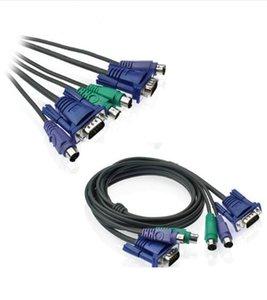 1.5 м 5FT USB VGA SVGA KVM 15 контактный стандартный переключатель принтера Ps2 кабель для PS / 2 клавиатуры монитор мыши бесплатная доставка высокое качество 2019 новый