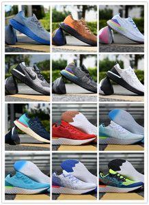 por atacado de moda Sneakers alta Elastic tecnologia bolha amortecimento calçados casuais épico Reagir Malha Casual sapatos Knit Ture 36-45 Drop Shipping