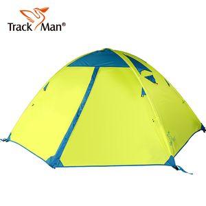 Tarckman 2 Person 2 Layers 3 Season Aluminum Rod Wafter Proof Travel Hiking Cycling Beach Fishing Outdoor Camping Tent