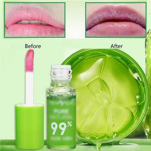 Nutrienti Lips Protect Liquid Lipgloss Donne pianta di aloe vera trasparente Natural Lip Gloss idratante trucco Glossy Make Up