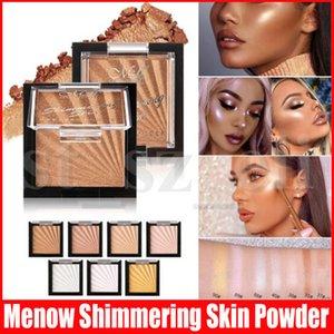 Лицо Макияж глаз Блеск Highlight мерцающей пудры Eyeshadow Долговечность порошок Shimmer Powder палитры Face Bronzer Highlighters