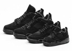 Mens Donne Kid 4 OG Black Cat Jumpman scarpe 13 scarpe da basket degli uomini Rush Violet scarpe firmate 11 allevato 28-47 con la scatola CU1110-010