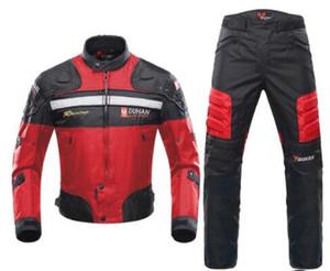NOUVEAU DUHAN coupe-vent Moto Racing Costume Équipement de protection Armure Veste moto Pantalon moto Hip Protector Set Moto Vêtements