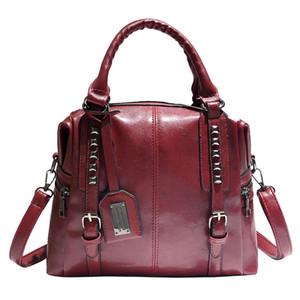 Fashion Oil Wax Leather Lady's Handbag Shoulder Crossbody Soft Leather Lady's Handbags Women Ladies Hand Bags