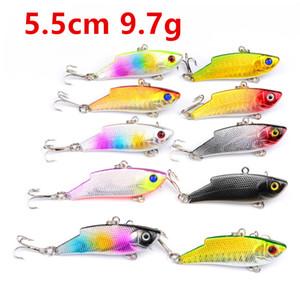 10 di colore 5,5 centimetri 9.7g VIB di pesca dei ganci 8 # amo da pesca richiamo duro adesca i richiami Pesca Attrezzatura di pesca B14_80