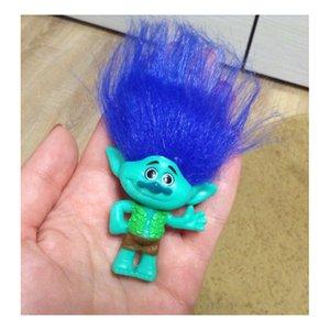Eco-Friendly 6 pz / set Troll Dreamworks Movie Figure da collezione Bambole Ramo di papavero Troll in PVC Action Figures Capelli lunghi Bambola Giocattolo Regalo
