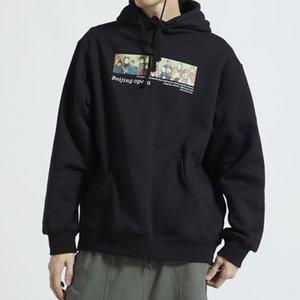 Opera de Beijing Impreso paño grueso y suave de los hombres sudaderas con capucha 2020 de Harajuku algodón ocasional moda jersey Streetwear sudaderas con capucha