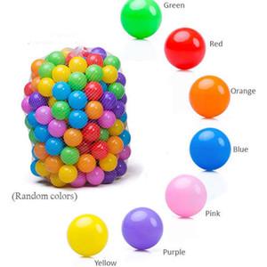 اكسسوارات 100pcs التي الحزب بالونات الجودة الطفل كيد حفرة لعبة السباحة بركة المرح الملونة البلاستيك اللين المحيط الكرة