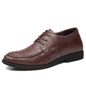 Height Increasing Elevator Shoes New Men Oxfords Elegant Men Formal Dress Shoes 2019 Bridegroom Shoes Black Brown Lace Up