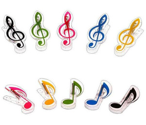 Mode nouvelle arrivée musique clip papeterie dossier clip note musicale clips piano livre page clips livraison gratuite