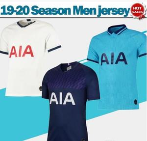 19 20 Spurs maillots maison blanche # 10 football KANE Men # 7 # 20 SON chemises de football loin DELE manches courtes troisième football Uniformes