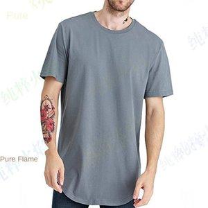 mens designerPleated shoulder-inserted bamboo stripe solid color short-sleeved T-shirt