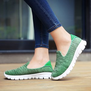 8 Colors Women's Outdoor Running Flats Lightweight Slip On Breathable Sports Shoes Comfortable Female Walking Sneakers Shoes