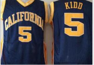 las mujeres de Hombres jóvenes Vintage # 5 Jason Kidd carliforniana Berass baloncesto Jersey, tamaño S-4XL o costumbre cualquier nombre o el número del jersey