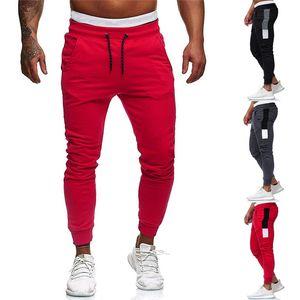 Calças Homens Sweatpants Slacks Masculino de Moda de Nova Hip Casual Elastic joggings Esporte Sólidos Baggy Trousers Pockets Asiático Tamanho