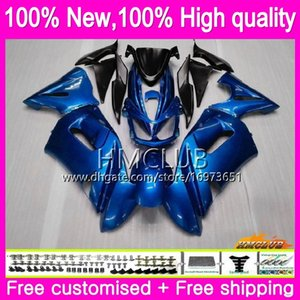 8Gifts + Cuerpo Para KAWASAKI 650R ER6 F 650 R ER6f 06 07 08 Kit de perla azul 47HM.6 650R ER6f 06 08 ER 6 F ER 6F 2006 2007 2008 carenados kit