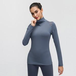 2020 Nova Sports cobre a camisa roupas Sportwear LU-92 Mulher manga comprida Yoga Top malha Womens musculação Tops Gym aptidão das mulheres T