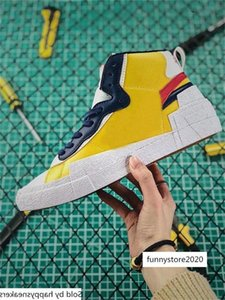 Authentic Blazer Mid High Sacai White Black Legend Blue Dunk Snow Beach LD Waffle BV0072-001 BV0072-700 Men Outdoor Shoes Size 5-13
