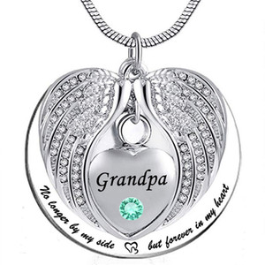 Unisex No Longer by My Side But Forever in My Heart Collana ciondolo in acciaio inossidabile con pendente ciondolo urna cenere nonna