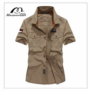 Men's Shirts 2020 Summer New Short Sleeved Solid Color Tops male's Slim Shirt Embroidered Tops Men's Business Casual Shirts