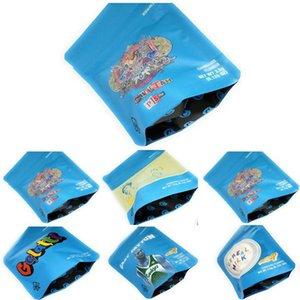 Sacos de embalagem grátis DHL Mylar Cheetah Piss Proof Mylarbag Bolsas 5styles cheiro biscoitos malas 3,5 Mylar lUhGH