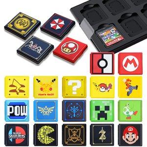 Para Nintend Mudar Acessórios portátil Game Cards Caixa à prova de choque de Shell duro Caixa de armazenamento para Nintendo Mudar NS Games