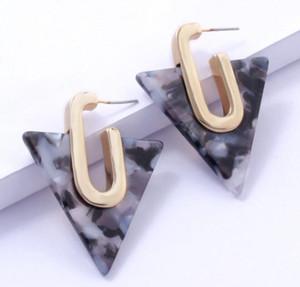 Semplice geometrica Acetato orecchini per le donne Boemia colorato triangolo acetico orecchini Acid dono gioielli di moda ragazza GB1304