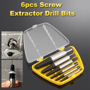 6PCS danificado velocidade hélice extractora Broca definido quebrado torneira extractor de parafuso quebrado remoção conjunto para fora extractor de parafuso danificado