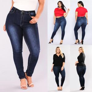 Mesdames Hot Jeans Femme Taille Plus 5XL taille haute Pantalon Denim Gradient Femme Jeans Femme Pousser Pantalons Up Flower Pantalons élastiques