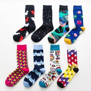 kadınlar tasarımcı marka çorap Yeni stil çorap İngiliz rüzgar geometri isabet renk trendi sokak pamuk tüp Sonbahar ve kış modelleri çorap mens