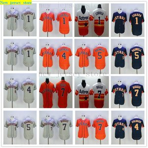 2019 Mens Women Youth Astros Jerseys Stitched Baseball 4 george springer 5 Jeff Bagwell 7 Craig Biggio Jersey color gray red black Kids