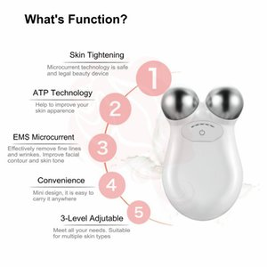 DHL FREE Mini Microcurrent Face Lift machine Skin Tightening Rejuvenation Spa USB Charging Facial Wrinkle Remover Device Beauty Massager