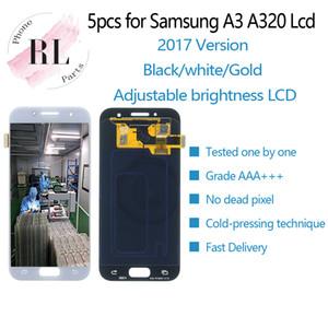 5 UNIDS LCD de brillo ajustable para Samsung GALAXY A3 2017 LCD A320F Pantalla táctil digitalizadora para Samsung A3 2017 pantalla