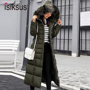 Isiksus Padded Warm Down Vestes Femmes Hiver Plus La Taille Long Quilted Noir À Capuche Manteau De Fourrure Veste 2018 Parkas Pour Femmes Wp013 Y190828