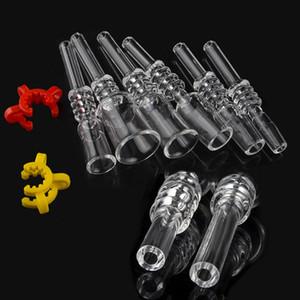 Quarzo Suggerimento per il nettare di raccolta 10 millimetri 14 millimetri 18 millimetri comune Miele paglia Drip Tips Domeless reale quarzo Nail Dab Rig Water Glass Bong DHL