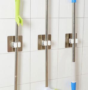 يعلق على الحائط الممسحة المنظم حامل فرشاة المكنسة شماعات تخزين الرف أدوات المطبخ هوك رفوف المطبخ حمام منظم KKA7893N