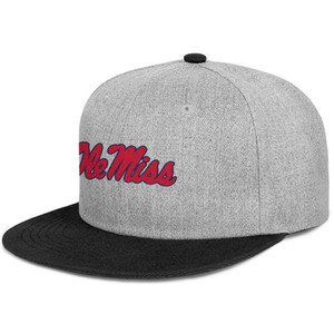 Mississippi Ole Miss Rebels football mens and women snap back baseballcap styles uk Hip Hopflat brimhats Effect Flag Logo Distressed Red
