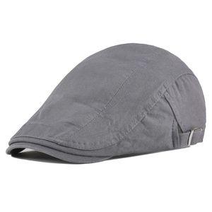 VOBOOM Summer Cotton Flat Cap Ivy Caps Duckbill Newsboy hommes Beret femmes Gatsby Cabbie conducteur Chapeau réglable Boina 012