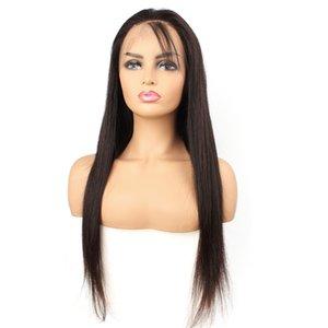10-30 volle Spitzeperücke des unverarbeiteten reinen brasilianischen Menschenhaar natürliche Farbe seidiges glattes Haar Schweizer Spitze Perücke
