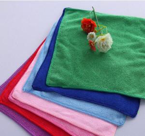 تصميم جديد (25 * 25CM) لون ستوكات منشفة المناشف المعقمة ستوكات تنظيف منشفة غسل السيارات القماش الليفة حمام المناشف النظيفة
