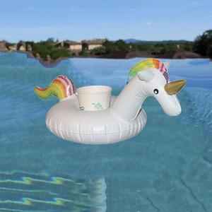 2017 bebida quente 1PC Piscina inflável animal dos desenhos animados Floating Piscina Bath Beach Can Porta-copos férias Pool Party aproveitar o tempo