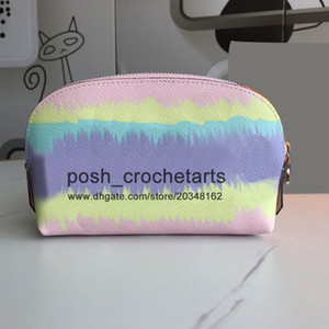 Pastel Cosmetic Pouch for Sale Designer Tie Dye Cosmetic Bag With Box Packaging Pastel Makeup Pouches in Tie Dye Fashion