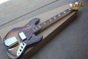 Custom Factory 4 cordes guitare basse avec Body Vintage, rouge tortue pickguard, Palissandre, Offre personnalisée