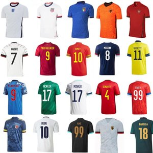 2020 men national football jersey short maillot de foot France Netherlands Germany England usa Spain Italy Wales Portugal soccer jerseys