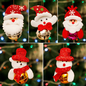 Christmas Decoration Doll Bell Kids Gift Santa Claus Elk Doll Xmas Tree Pendants Christmas DIY Haning Noel Decoration for Home