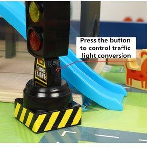 Cantando Sinal de tráfego Toy Luz Traffic Signal Modelo Estrada adequado para Brio Train Crianças Acessórios Toy Série trilha