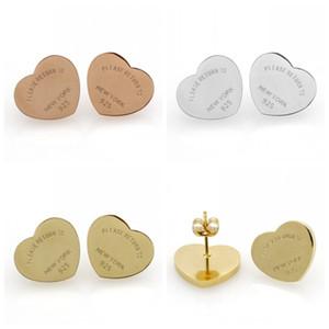 Серьги в форме сердца 10 мм анти аллергия титана стали любовное письмо уха шпильки для женщин девушки ювелирные изделия Свадьба День Святого Валентина подарок 7 5bl H1