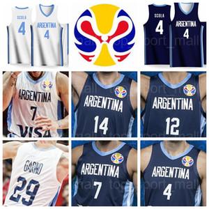 2019 كأس العالم الأرجنتين لكرة السلة الفانيلة 4 لويس سكولا 29 باتريشيو جارينو 7 فاسوندو كامبازو 14 غابرييل ديك 8 نيكولاس لابروفيتولا