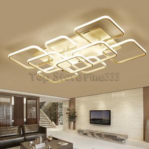Dropshipping Lampadari a LED Lampade a sospensione Plafoniere Lampade moderne di moda Fan Blade Design Light Per soggiorno Hotel