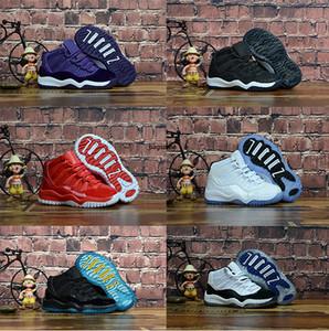 Дети низкая баскетбольная обувь спортивная обувь на открытом воздухе Детские кроссовки тренажерный зал Красный Чикаго полночь темно-синий мальчик девочки 11s спортивная дизайнерская обувь